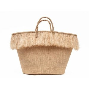 The Basket Room Sketi fringed basket bag