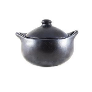 Indigena Black Pottery Round Casserole