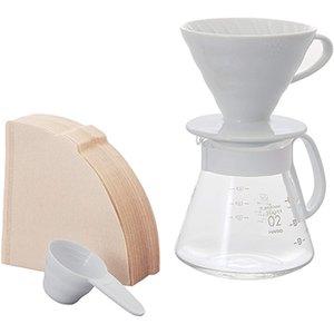 Hario V60 Ceramic Dripper 02 Set White