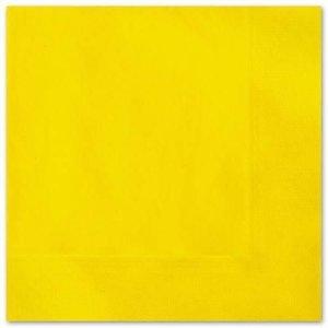 Servetten 33x33cm geel 20 stuks