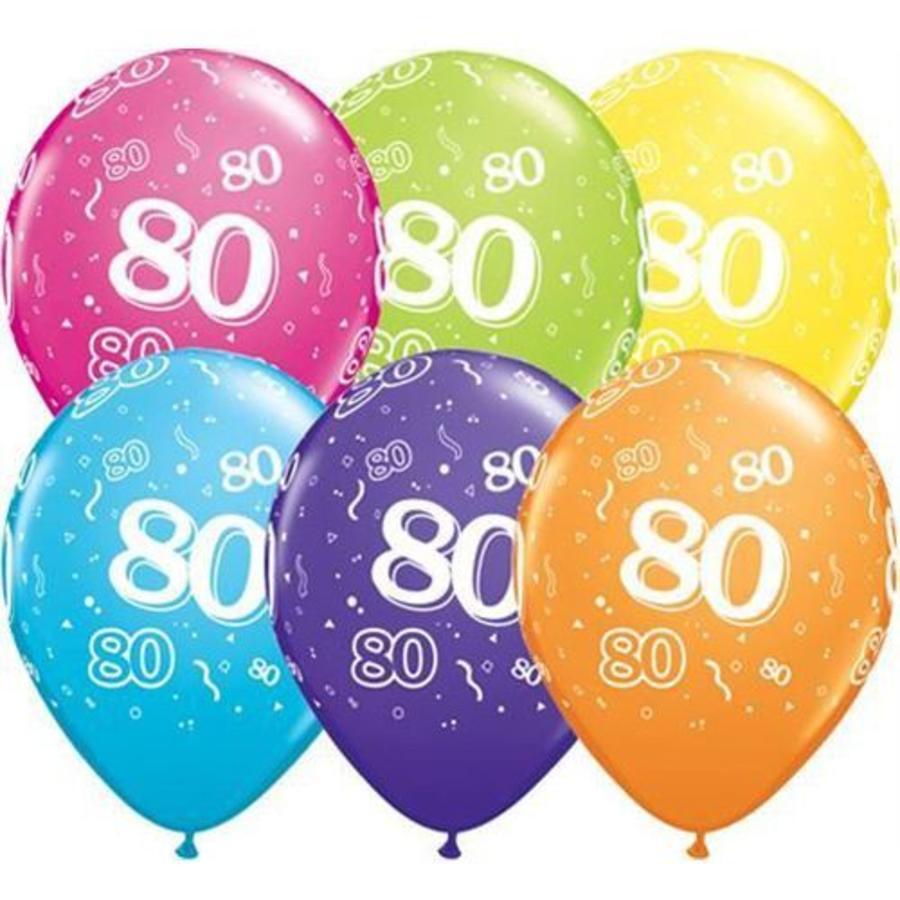 Ballonnen 80 jaar Qualatex 25 stuks