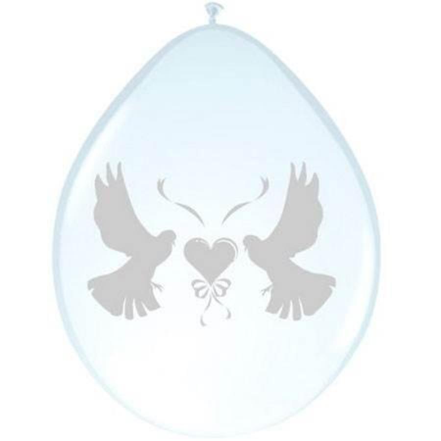 Ballon duiven parelmoer 8 stuks