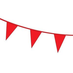 Vlaggenlijn rood plastic 10 meter