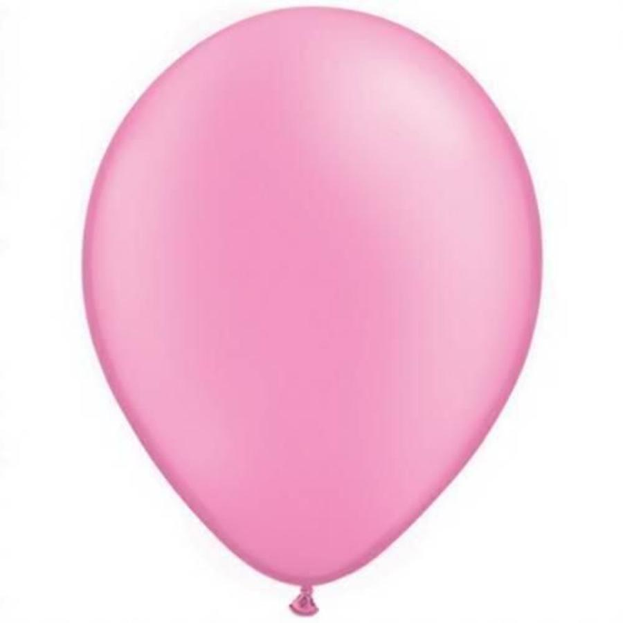 Ballon donkerroze 10 stuks