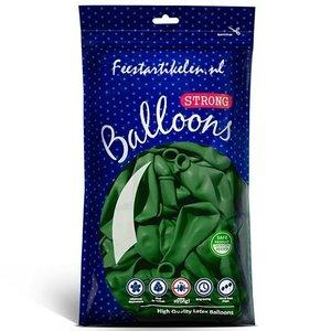 Ballonnen donkergroen 100 stuks
