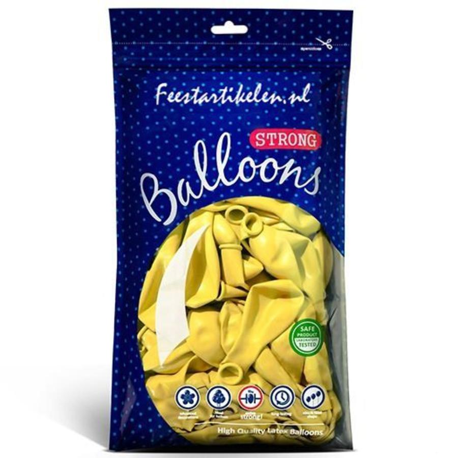 Ballonnen geel 100 stuks