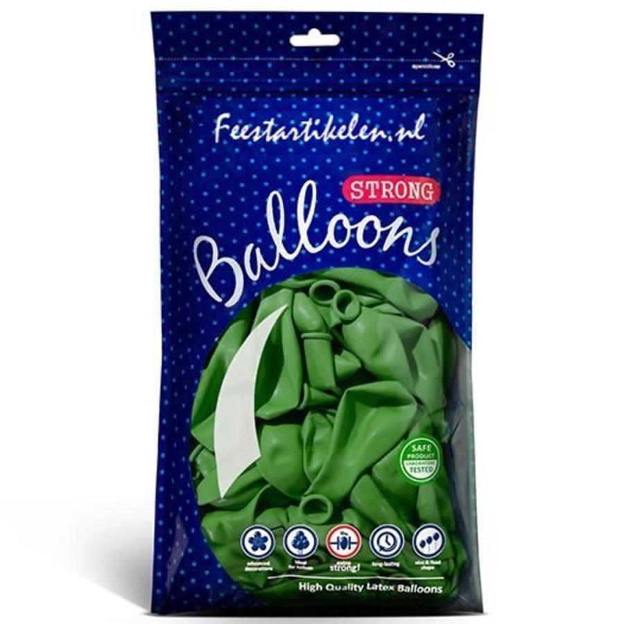 Ballonnen groen 100 stuks