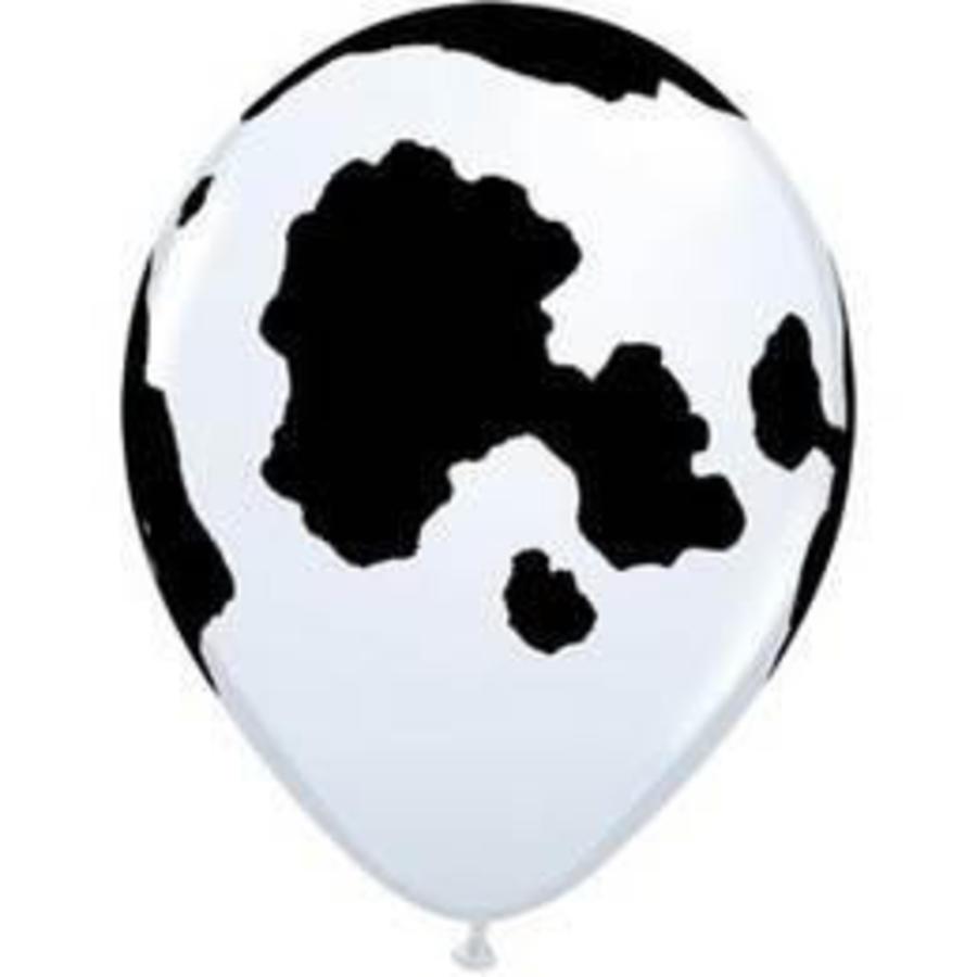 Ballon met koe vlekken 6 stuks