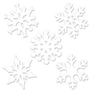 Decoratie sneeuwvlokken mini