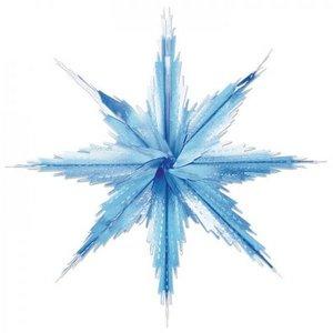 Sneeuwvlok metallic tweekleurig 2 stuks