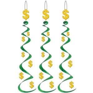 Hangdecoratie Whirls Dollar