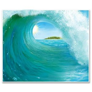 Muurposter Tropical Surf Wave