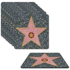 Onderzetters Hollywood Walk of Fame