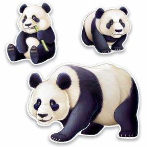 Decoratie Panda 3 stuks