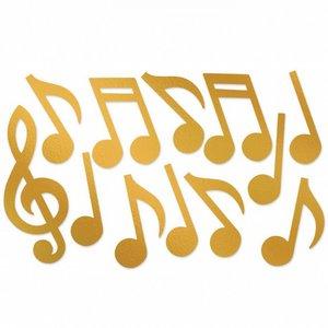 Decoratie Muzieknoten goudkleurig luxe