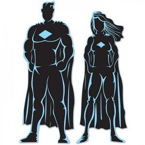 Decoratie Superhelden Silhouettes