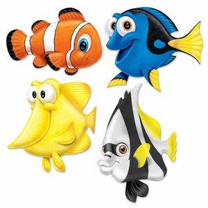 Decoratie tropische vissen groot