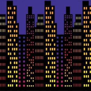 Wanddecoratie Superhelden Skyline