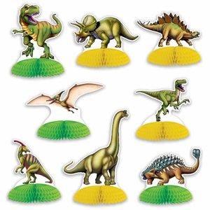 Tafeldecoraties Dinosaurussen 8 stuks