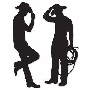 Decoratie Cowboy Silhouetten