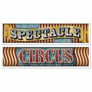 Banners Circus 2 stuks groot