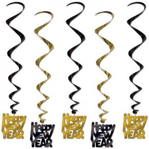 Hangdecoratie Whirls Happy New Year