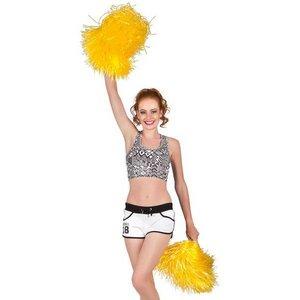Cheerleader pompon luxe geel per stuk