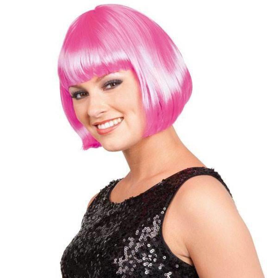 Boblijn Pruik roze