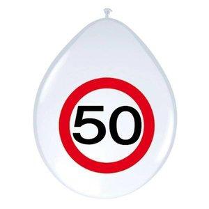 Ballonnen 50 jaar verkeersbord