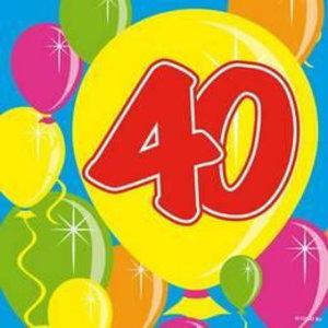 Servetten 40 jaar ballonnen