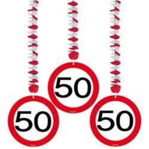 Hangdecoratie 50 verkeersbord