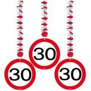 Hangdecoratie 30 verkeersbord