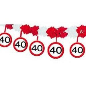 Slinger papier verkeersbord 40 jaar