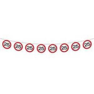 Vlaggenlijn verkeersbord 25 jaar
