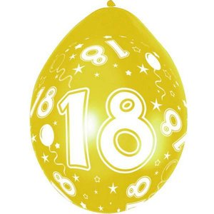 Ballonnen 18 jaar rondom bedrukt