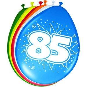 Ballonnen 85 jaar 8 stuks