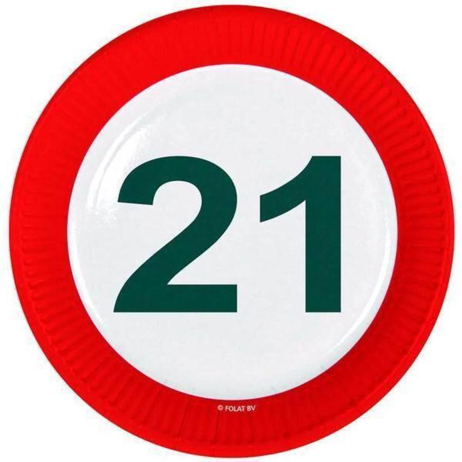 Bordjes 21 jaar verkeersbord