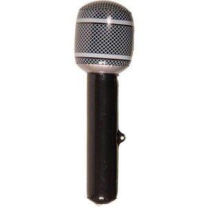 Opblaasbare microfoon zwart-zilver