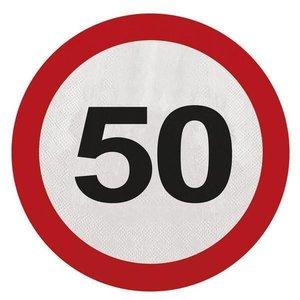 Servetten 50 jaar verkeersbord