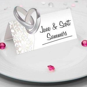 Naam tafelkaartjes huwelijk 36 stuks