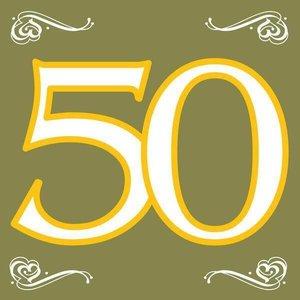 Servetten 50 jaar goudkleurig
