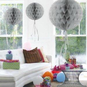 Honeycomb decoratie 30cm zilverkleurig