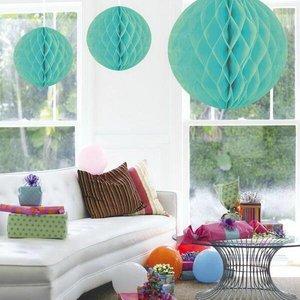 Honeycomb decoratie 30cm mint groen