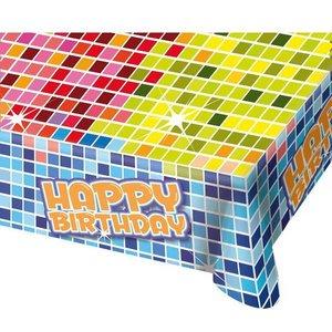 Tafelkleed Happy Birthday Blocks