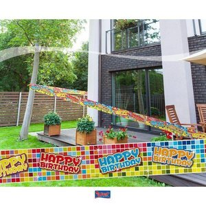 Afzetlint decoratie Happy Birthday Blocks
