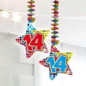 14 jaar hangdecoratie blocks