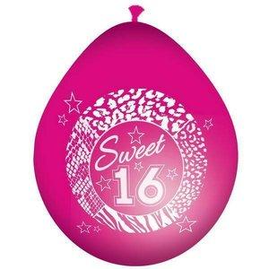 Sweet 16 ballonnen donkerroze