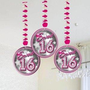 Sweet 16 hangdecoratie luxe