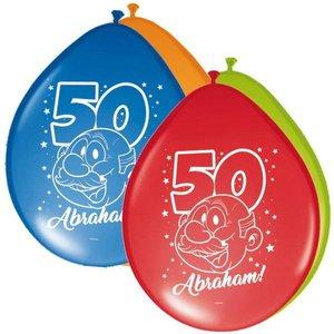 Ballonnen 50 jaar Abraham Rainbow 8 stuks
