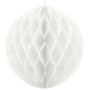 Honeycomb decoratie 30cm wit